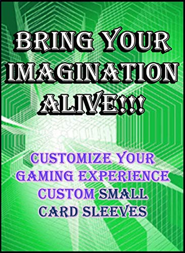 12 X Custom Card Sleeves 60ct with Your Design for Gaming Cards Small Size, Yugioh, Vanguard