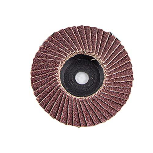 1 unid / 5pc / 10pc Discos de aleta plana 75 mm 3 pulgadas / 2 pulgadas 50x10mm 75x10mm Discos de lijado Ruedas de pulido cuchillas para molinillo de ángulo grano 80 ( Color : Brown , Size : 5pc )