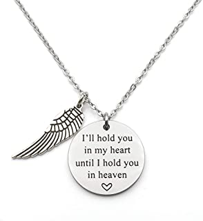 Memorial Jewelry I Will Hold You in My Heart Until I Can Hold You in Heaven Pendant Loss of Child Necklace Cremation Jewelry Remembrance Jewelry