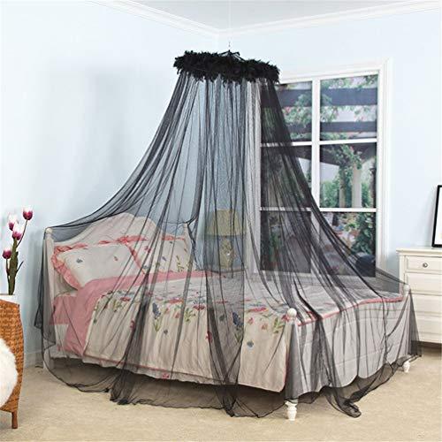 LMXJB Draagbaar Muskietennet voor eenpersoons- tot kingsize bedden, hangmatten en babybedjes of buiten kamperen, beschermend muggennet met koepeltent Tassel Veer Macrame Design, Insect Screen Netting