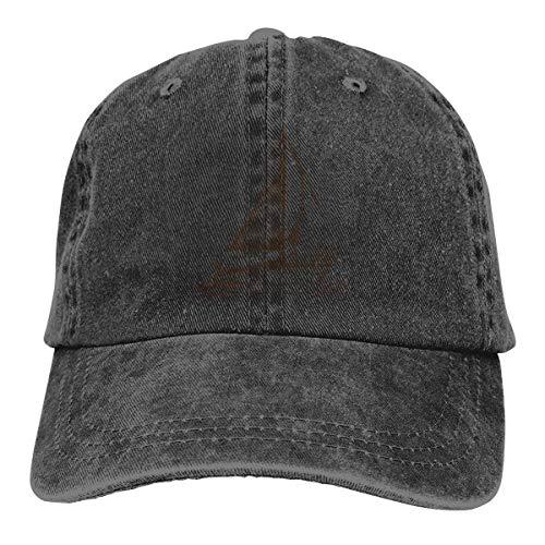 XCNGG Velero en el mar Sombreros de Vaquero Unisex Sombrero de Mezclilla Deportivo Gorra de béisbol de Moda Negro