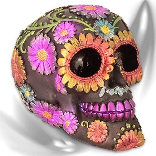 mtb more energy Teschio ''Flor de Muertos'' - Giorno dei Morti - Totenschädel Figura Sugar Skull