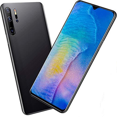 Smartphone ohne Vertrag Günstig P30pro, 6.3 Zoll HD Display 4800mAh Akku 13MP 24MP Kamera 32GB ROM 128 GB Erweiterbar Dual SIM Android 10.0 Einsteiger Handy, Black