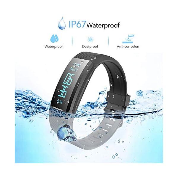 AGPTEK Pulsera de Actividad Inteligente Impermeable IP67, Reloj Deportivo con GPS Podómetro, Monitor de Ritmo, Calorías… 2