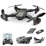 rzoizwko Drone, Drone Plegable GPS FPV con cámara HD Video en Vivo, RC Quadcopter con GPS Return Home, Sígueme, Control de Gestos, Auto Hover y Transmisión WiFi, para Adultos y Principiantes