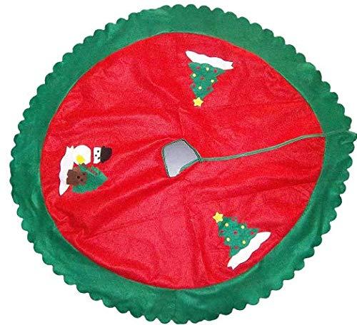 Sachsen Versand Weihnachts-Christ-Baum-Deko-Schutz-Teppich-Unterlage Durchmesser ca. 80cm