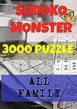 SUDOKU MONSTER 3000: THE BIGGER SUDOKU. 3000 PUZZLE. EASY MEDIUM HARD AND EXPERT...