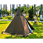 Outdoor Portable Waterproof Camping Pyramid Teepee Tent Pentagonal Adult Tipi Tent with Stove Hole 4