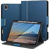 KingBlanc Hülle für iPad Pro 11 2020 mit Stifthalter, Auto Schlaf/Wach Funktion, Unterstützt Koppeln/Kabelloses Laden für Apple Pencil, Smart Cover Hülle mit iPad Pro 11 inch 2020/2018 (Blau)