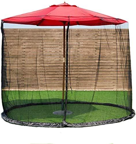 YYCHJU Cubierta De Red Anti Mosquitos Ajustable Paraguas en Las Cubiertas de la Tabla de la Pantalla Sombrilla for el Patio al Aire Libre Mosquiteros Tabla Parasol Mosquitera for Camping