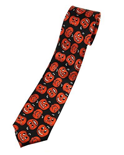 Cravate noire à motifs citrouilles Zac's Alter Ego®