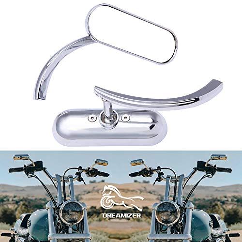 DREAMIZER Espejos Laterales Retrovisores de Motocicleta de 8 mm, Mini Oval Espejos...