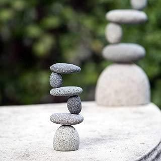 Mini Side 2 Side Rock Cairn Sculpture Garden Decoration Zen Garden Pile Stone