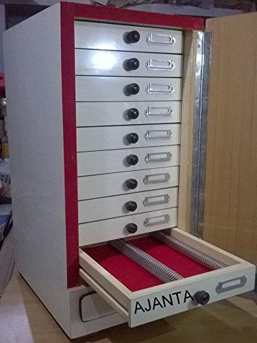 Ajanta Wooden Microscope Prepared Slide Storage Cabinet For 1000 Slides Brand New
