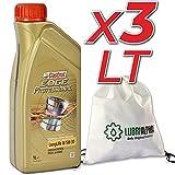 Olio motore 5w30 benzina diesel Castrol Edge Professional LongLife III 5w-30 con borsa multiuso conf. 3x1lt
