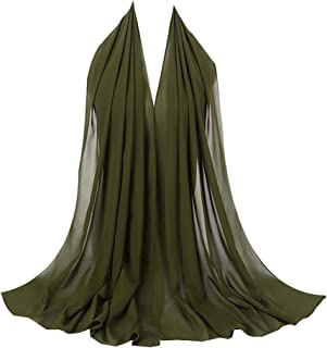 Women Crinkle Cloud Hijab Scarf Lightweight Chiffon Muslim Islamic Long Hejab Head Wrap Shawls