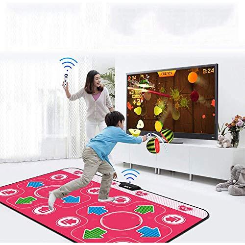 Jiuyue Erwachsene Universelle Tanzmatte, TV MTV Tanz Doppelt Drahtlose HDMI Tanzmatte 158 Spiel Schillernden Tanz Yoga, LED Smart Light Guide, Farbige Lichter