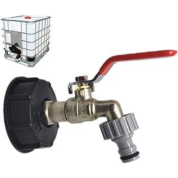 l/'Eau Réservoir de stockage IBC RÉSERVOIR adaptateur S60X6 Réservoir d/'eau avec un levier robinet...