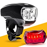 BoG Products LED Bike Light Set. Bicycle Headlight & taillight Combo. Ultrabright 5 LED kit. Use on Bike or Scooter. Free high Visibility reflectors~ in BG Lights Gift Box as Pictured