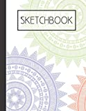 Colorful Mandala pattern Sketchbook: 200 Page Sketchbook: Artist Edition (8.5x11)