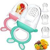 Chupete Fruta Bebe,DIAOCARE Alimentador Antiahogo de Fruta Para Bebés y Niños Pequeños,Sin BPA,Incluye 3 piezas de Todos los Tamaños Sacos de Silicona