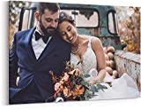 Personalized Photo to Canvas Print Wall Art 12x12 Inch (30cmx30cm) Custom Your Photo On Canvas Wall Art Digitally Printed