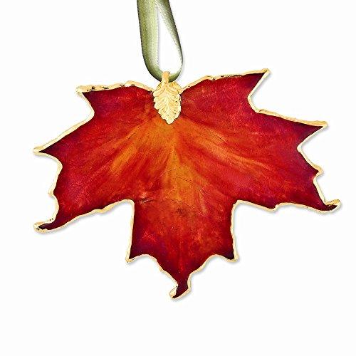 RoseCharm Schöner Lack getauchte 24k Trim orange Zuckerahorn Dekorative Blatt