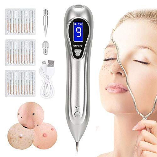 Portable Beauty Equipment 9 Levels Adjustable With Home Usage USB Charging/LCD/30 Replaceable Gift Ideal for Mom Girlfriend Women Girl(Silver)