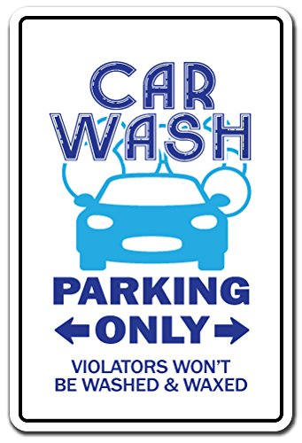 Car Wash Novelty Sign | Indoor/Outdoor | Funny Home Décor for Garages, Living Rooms, Bedroom, Offices | Signmission Gift Automobile Detail Shop Wax Walter White's A1 Clean Sign Wall Plaque Decoration