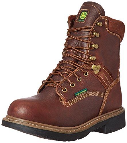 John Deere Botas de trabajo impermeables para hombre, 8 Brn, marr�n (Marrón), 41 EU