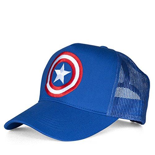 Marvel Unisex Captain America-Shield-Kids Baseball Cap, (Azure Blue), One Size