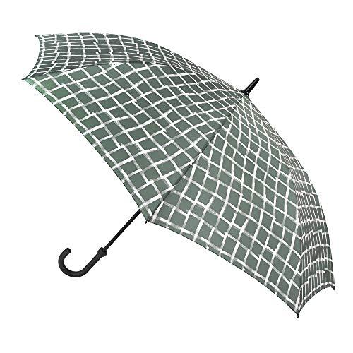 Paraguas Vogue. Paraguas Grande Mujer y Hombre. Golf XXL. Gran Cobertura y Resistencia. Estampado Cuadros tartán. Paraguas Resistente al Viento y automático. (Verde)