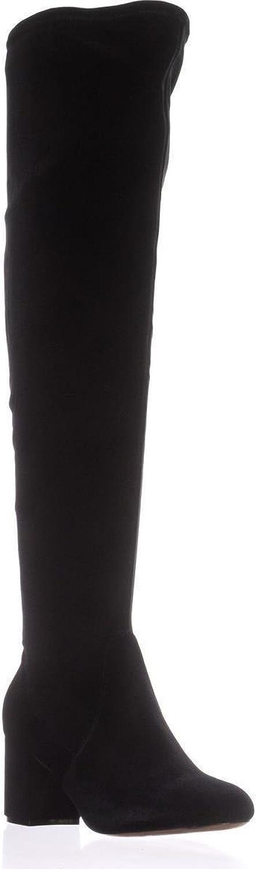 I35 Rikkie2 Wide Calf Knee-High Heeled Boots, Black