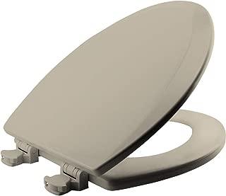 BEMIS 1500EC 146 Toilet Seat with Easy Clean & Change Hinges, ELONGATED, Durable Enameled Wood, Almond