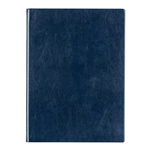 Organizador de Escritorio Libro de discurso de reunión de la Oficina de Engrosamiento del Cuaderno de Negocios, Cuero de la PU Soporte para Bandeja (Color : Blue, Size : C)