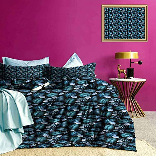 Duvet Cover Set Hawaii Jungle Rainforest All-Purpose Bedding Sets Pet Hair Has Not Clinging to It - Twin Size