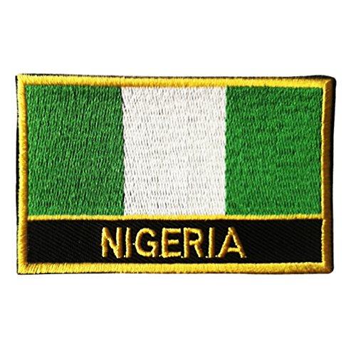 Nigeria Flag Sew-On Patch (Nigerian Iron-on w/Words)