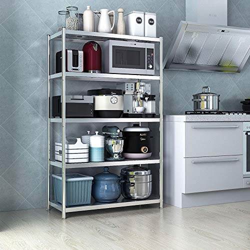 Estantes Organizadores de Almacenamiento de Cocina 5 capas de metal de almacenamiento en rack de cocina del horno microondas soporte de la especia estante de almacenamiento caja de la estación de trab