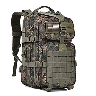 Military Tactical Assault Pack Backpack Army Molle Bug Bag Backpacks Rucksack for Outdoor Hunting Camping School 34L Small Woodland Camouflage
