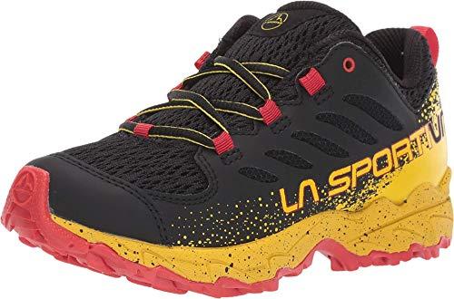 La Sportiva JYNX Little Kids' Hiking Shoe, Black/Yellow, 32