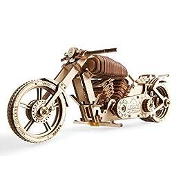 UGEARS VM-02 Motocicletta in Legno da Costruire – Kit Fai da Te – per Appassionati di Motori
