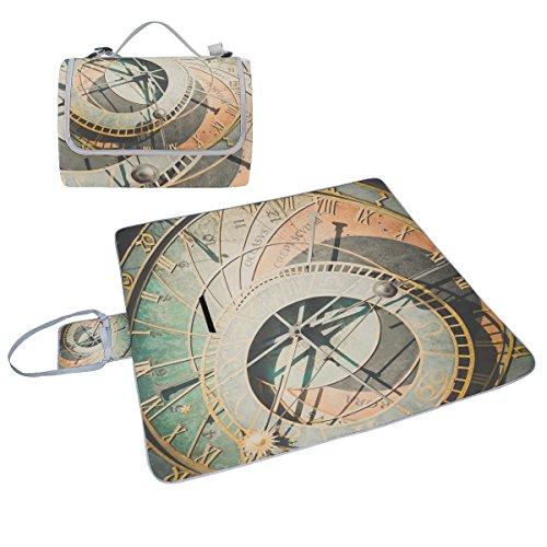 COOSUN astronomische Uhr Box Picknick-Decke mit Matte Schimmel resistent und wasserdicht Camping-Matte für rving, Picknickdecke, Strand, Wandern, Reisen und Ausflüge