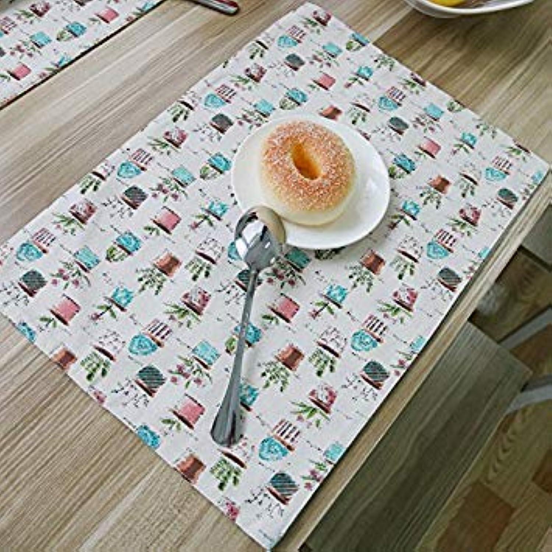 Cotton Mats & Pads Korean Potted 32x45cm 4pcs Set Placemat Napkins for The Table Coaster Posavasos Crochet Onderzetters Dessous
