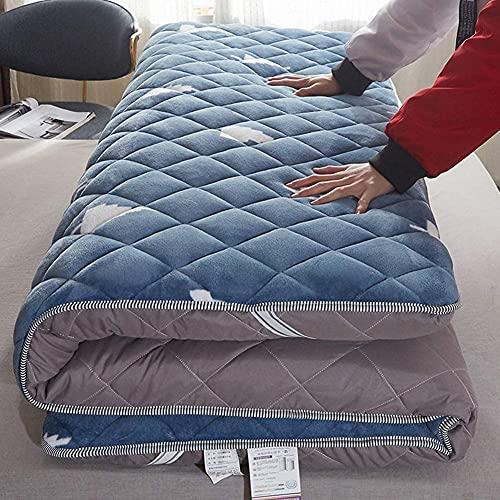 JMBK Les Matelas de futon épaississent Le Matelas portatif Pliant de Plancher Mou de Futon, Les futons Japonais Simples Doubles, Le Matelas Pliable de Tapis de Rouleau,90 * 190cm