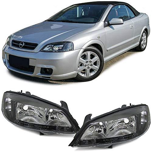 Carparts-Online 10151 Schwarze Klarglas Scheinwerfer