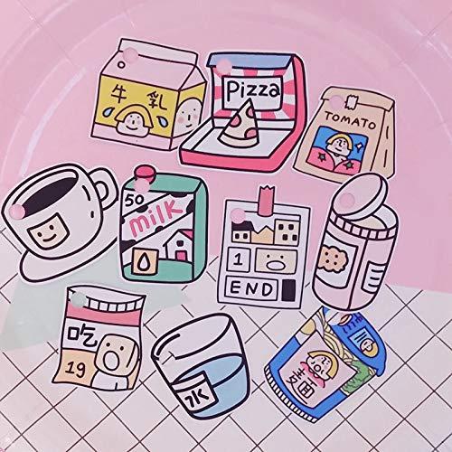 PMSMT 10 unids/Pack Ins Superventas Creativas Bonitas Pegatinas de bocadillos de Dibujos Animados Libro de Mano Papel DIY Material Decorativo Pegatinas de papelería