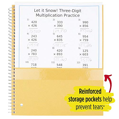 """Five Star Spiral Notebooks, 1 Subject, Wide Ruled Paper, 100 Sheets, 10-1/2"""" x 8"""", Assorted Colors, 6 Pack (38042) Photo #5"""