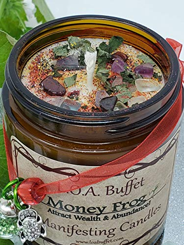 Prosperity Candles, Law Of Attraction, Money Frog, Money Frog Candle, Soy Candles, Success Candle, Money Drawing Ritual, Aromatherapy Candle