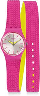 Swatch Womens Quartz Watch, Analog Display and Silicone Strap LP143