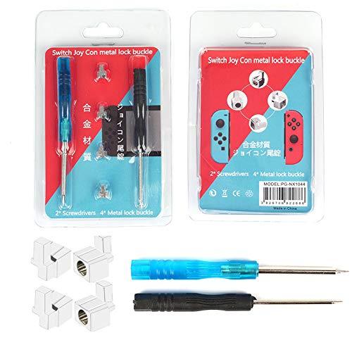 Nintendo Switch対応 Switch Joy-Con 交換部品 バックルロック4個 修理パーツ 左右カードバックル修理部品 for ニンテンドー ジョイコン 尾錠 Joy-Conのレール構造で耐久性の問題解決 合金材質 コントローラーのパーツ
